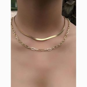 Dainty Gold Delicate Layered Chain 2 Necklace Set